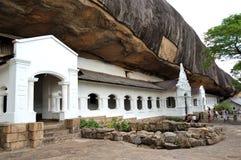 洞dambulla寺庙 免版税图库摄影
