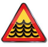 洪水和大浪 库存例证