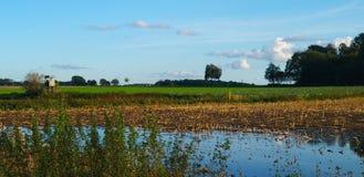洪水和湖同时 库存照片