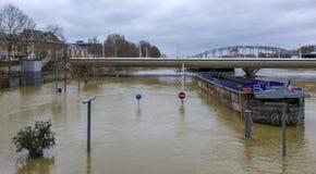 洪水在巴黎 库存图片