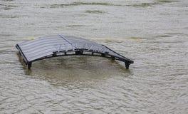 洪水在巴黎 免版税库存图片