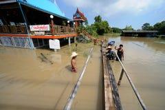 洪水在泰国 免版税库存照片