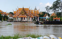 洪水在泰国 免版税图库摄影