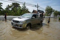 洪水情况在城市 库存图片