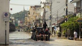 洪水情况在城市 库存照片