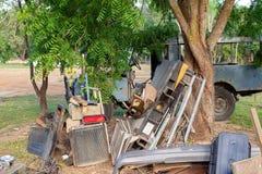 洪水损坏的汽车零件 免版税图库摄影