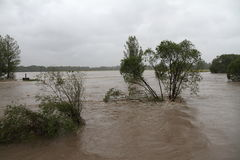 洪水河 免版税库存图片