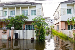 洪水泰国水 库存图片