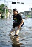 洪水泰国 免版税库存照片