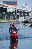 洪水泰国 库存照片