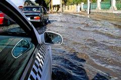 洪水街道 免版税图库摄影