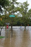 洪水飓风艾琳 免版税库存图片
