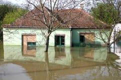 洪水,大自然灾害 免版税库存照片