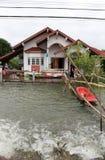 洪水lopburi泰国 免版税库存图片