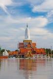 洪水phutthaisawan寺庙wat 库存图片