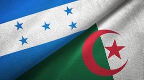 洪都拉斯和阿尔及利亚两旗子纺织品布料,织品纹理 库存例证