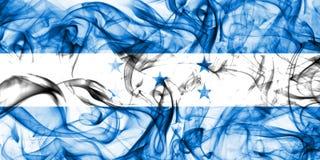 洪都拉斯在白色背景的烟旗子 图库摄影