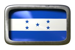 洪都拉斯旗子标志 向量例证