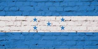 洪都拉斯旗子纹理  库存图片