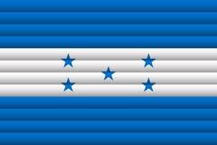 洪都拉斯旗子 也corel凹道例证向量 库存图片