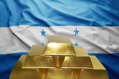 洪都拉斯黄金储备 库存图片