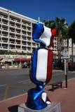 洲际的卡尔顿戛纳,蓝色,游乐园,车,理发椅 免版税库存图片