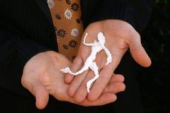 活动企业手工纸赛跑者 免版税库存图片