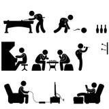 活动保龄球象棋俱乐部室内游泳池落&# 向量例证