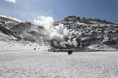 活动北海道火山的日本 免版税库存图片