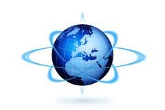 活动地球世界 库存例证