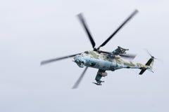 活动武装直升机 库存图片