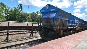 活动火车美丽的景色在印度 免版税库存图片
