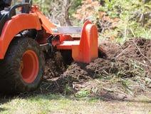 活动特写镜头翻土机拖拉机实用程序 图库摄影