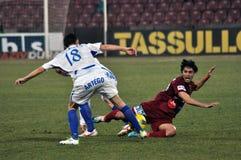 活动球员足球 免版税图库摄影