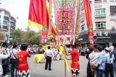 活动瓷舞蹈狮子深圳 库存照片