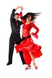 活动的舞蹈演员 免版税库存照片