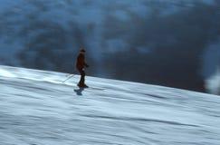 活动的4滑雪者 库存照片