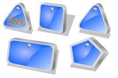 活动蓝色图标价格 免版税库存照片
