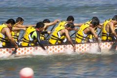 活动被弄脏的小船龙种族 免版税图库摄影