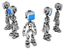 活屏幕机器人,五个小组 皇族释放例证