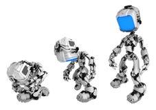 活屏幕机器人,展开 皇族释放例证