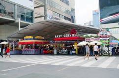 活泼的市场在中央世界购物中心 库存照片