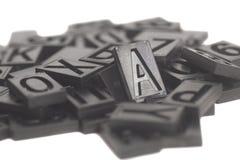 活版字母表和数字 免版税库存照片