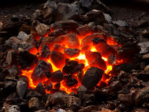 活的采煤 免版税库存图片