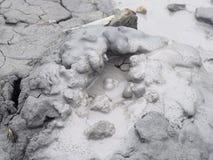 活跃起泡在泥火山- Baratang海岛,安达曼尼科巴群岛,印度 免版税图库摄影