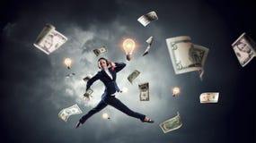 活跃销售经理 免版税库存照片