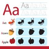 活页练习题孩子的传染媒介设计 库存照片