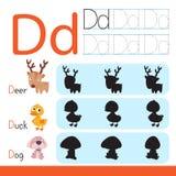 活页练习题孩子的传染媒介设计 库存图片
