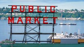 派克位置公开市场在西雅图华盛顿 库存照片
