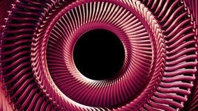 流体运动的转动的红色金属链子眼睛盘旋无缝的圈动画3d行动图表背景新的质量 皇族释放例证
